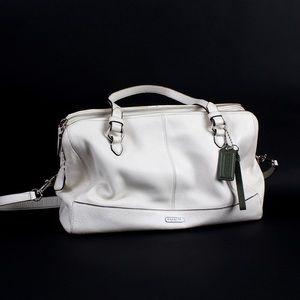Coach Park Leather Kathryn Triple Zipper Handbag